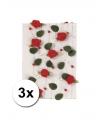 Huwelijk versiering rozen slingers rood 2 meter 3 st