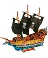 3D piraten puzzels van hout 89 stukjes