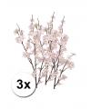3 takken met roze appelbloesems 84 cm