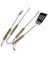 Barbecue set met vork, tang en spatel