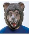 Bruine beer masker van latex