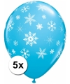 Winter thema ballonnen met sneeuwvlok