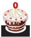 Cijfer kaarsen 0 jaar