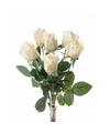 Kunstbloemen rozen boeket creme