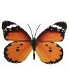 Tuin oranje vlinder van metaal 30 cm