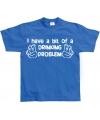 Blauw t-shirt drankprobleem