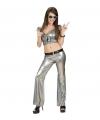 Disco broek zilver dames