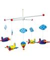 Mobiel met gekleurde vliegtuigen 44 cm