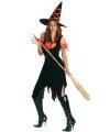 Halloween - Heksen kostuum zwart oranje