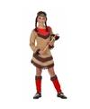 Indiaan Chinouk kostuum voor meisjes rood