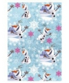 Cadeaupapier Frozen Olaf blauw