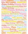 Geschenkpapier gekleurd Happy Birthday 70 x 200 cm