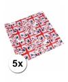 Geschenkpapier Britse vlag 5 x