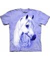 Paars dieren T-shirt paarden voor kinderen