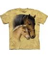 Bruin dieren T-shirt paarden voor kinderen