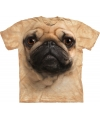 Bruin honden T-shirt Pug voor kinderen
