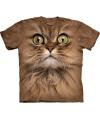 T-shirt voor kinderen met de afdruk van een bruine kat
