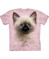 T-shirt voor kinderen met de afdruk van een kat/poes/kitten
