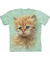 T-shirt voor kinderen met de afdruk van een rode kat/poes/kitten