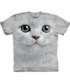 T-shirt voor kinderen met de afdruk van een witte kat