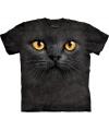 T-shirt voor kinderen met de afdruk van een zwarte kat
