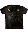 T-shirt voor kinderen met de afdruk van een zwarte luipaard