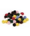 Knutsel materiaal gekleurde pompons 25 mm