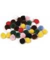 Knutsel pompons kleuren assortiment 70 stuks 7 mm