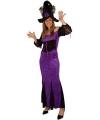 Halloween - Lange heksenjurk paars voor dames