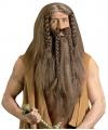 Luxe barbaar pruik met baard en snor