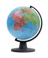 Wereldbol met zwarte evenaar 16 cm