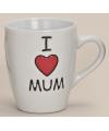 Mok met I love mum tekst wit 10 cm