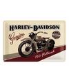 Metalen plaatje van Harley Davidson