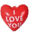 Bruiloft I Love You hart opblaasbaar
