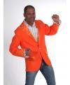 Luxe oranje heren colbert