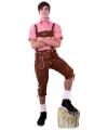 Bruine lederhosen voor Oktoberfest
