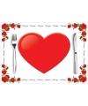 Set van 10 hartjes placemats