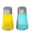 Peper en zout strooiers setje geel/blauw