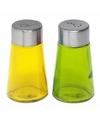 Peper en zout strooiers setje geel/groen