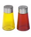 Peper en zout strooiers setje geel/rood