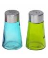Peper en zout strooiers setje groen/blauw