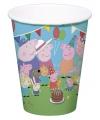 Peppa Big kinderfeest bekertjes 8 stuks