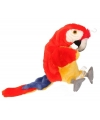 Pluche papegaaien poppenkast pop