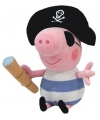 Pluche Peppa Pig knuffel George piraat