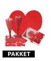 Valentijn diner decoratie pakket