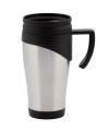 Thermo koffiebeker 400 ml zwart
