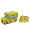 Gele schoolbus opbergbox 55 cm