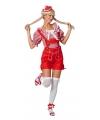 Rode lederhose kort broekje