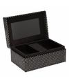 Kistje met spiegel voor sieraden 18 cm