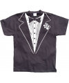 Zwart Tuxedo t-shirt